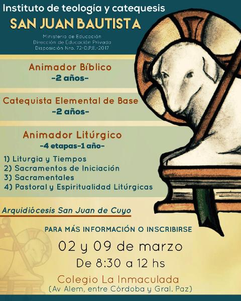 Inscripciones Instituto de Catequesis