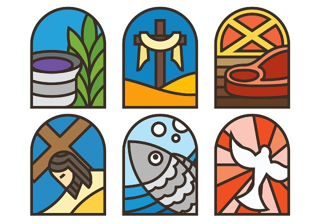 lent-vector-icons